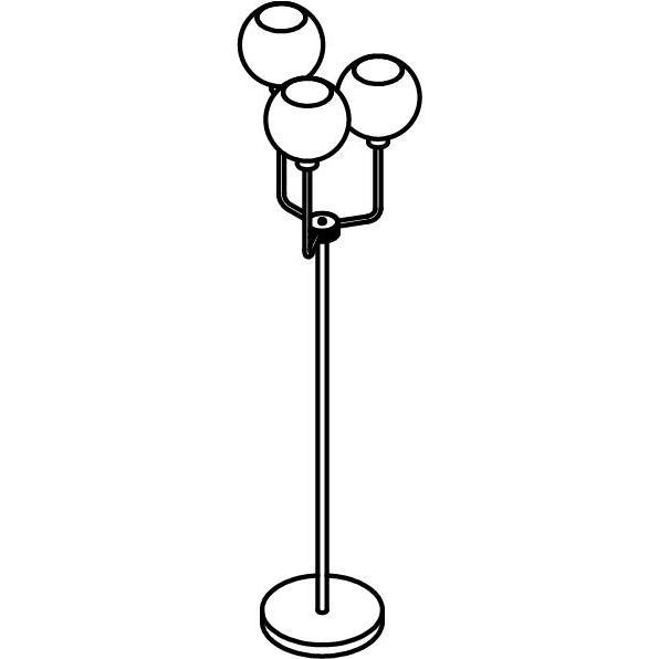 Drawing of 1517.B.E27/.. - CLEO - MOBY, staanlamp - vast - met snoer en stekker