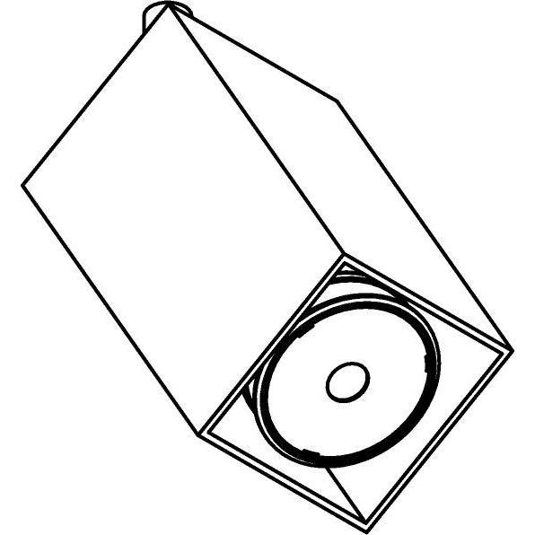 Drawing of 7603.AC/.. - FIXER, opbouwspot - vierkant - richtbaar - met LED-module