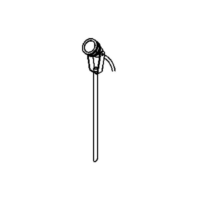 Drawing of T7004.5M/.. - UFO LED, tuinpaal met grondpin - richtbaar - met 5m kabel - met glas - grondpin meegelakt bij lakkleur