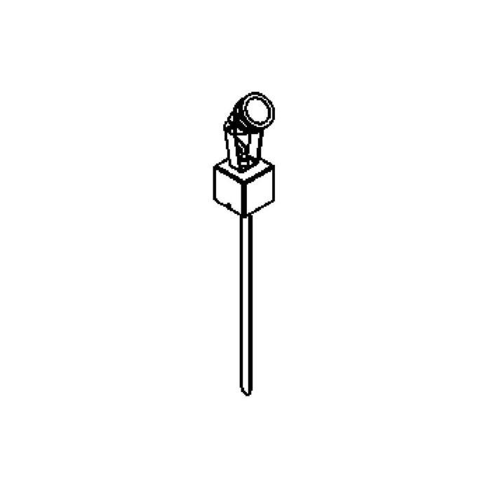 Drawing of T7007/.. - UFO LED, tuinpaal met grondpin - richtbaar - met glas en verbindingsdoos
