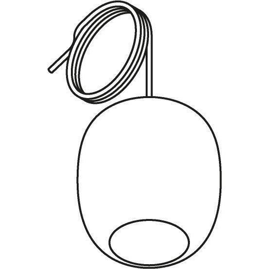 Drawing of 5043.E.E27/.. - MOBY STEEL, hanglamp - met 2m textielkabel en trekontlasting aan fitting