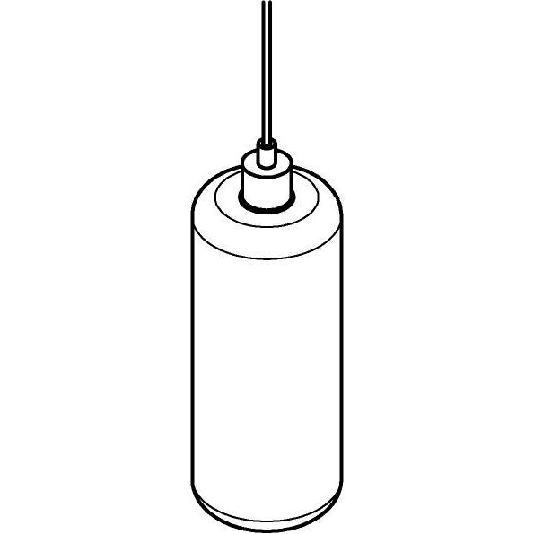 Drawing of 5116.P/.. - MANON P TRANSPARANT, hanglamp - rond - met 2m textielkabel en trekontlasting aan fitting