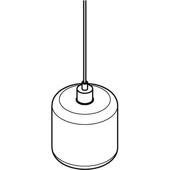Drawing of 5114.N/.. - MANON N TRANSPARANT, hanglamp - rond - met 2m textielkabel en trekontlasting aan fitting