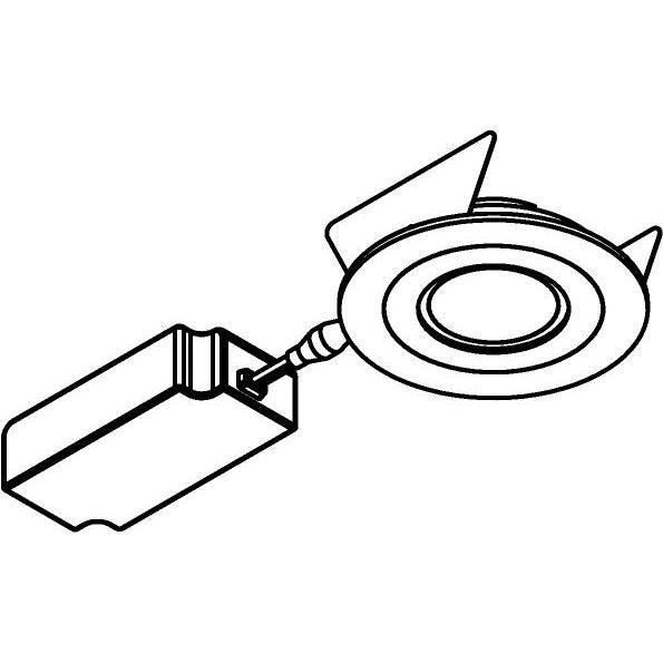 Drawing of 444.10010/.. - NOVA FLAT LED + DRIVER, inbouwspot - rond - vast - dimbaar - kit (driver + led + spot) - met LED driver