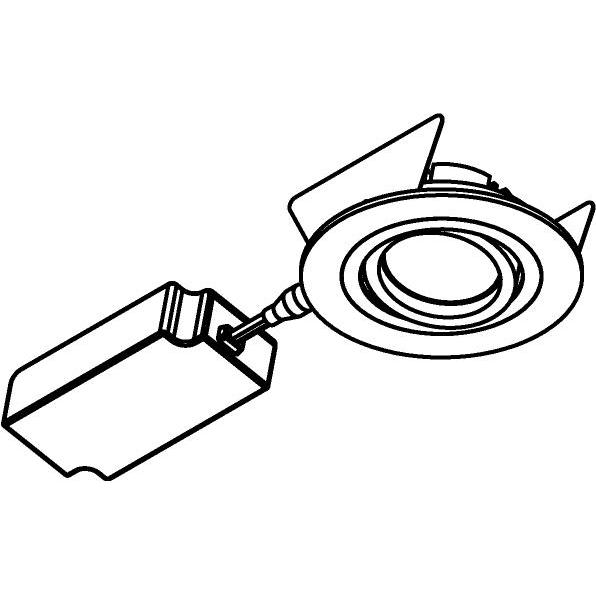Drawing of 444.10011/.. - NOVA FLAT LED + DRIVER, inbouwspot - rond - richtbaar - dimbaar - kit (driver + led + spot) - met LED driver