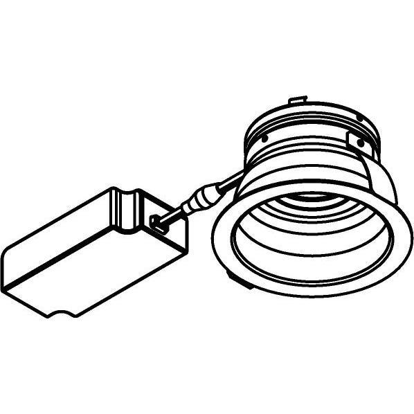 Drawing of 444.10016/.. - NOVA FLAT LED + DRIVER, inbouwspot - rond - vast - dimbaar - kit (driver + led + spot) - met LED driver