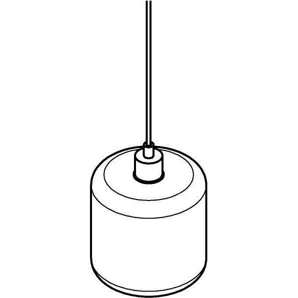 Drawing of 5123.N/.. - MANON N STEEL, hanglamp - rond - met 2m textielkabel en trekontlasting aan fitting