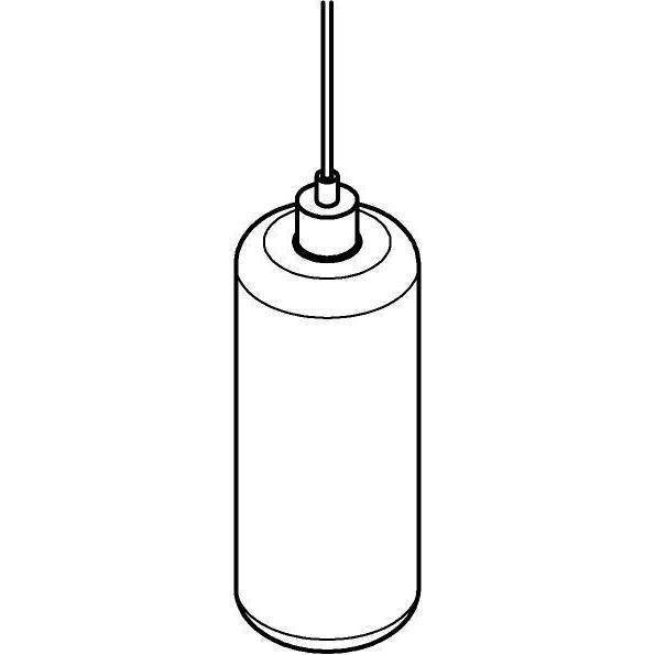 Drawing of 5125.P/.. - MANON P STEEL, hanglamp - rond - met 2m textielkabel en trekontlasting aan fitting