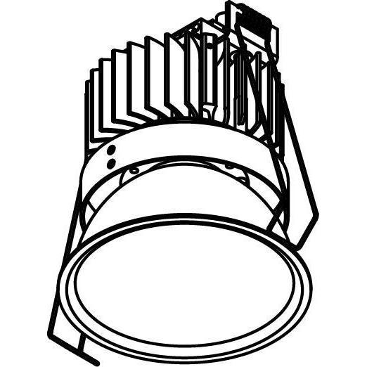 Drawing of 1501.ZXO.S1/.. - CAMELEON DIM LED, inbouwspot - rond - vast