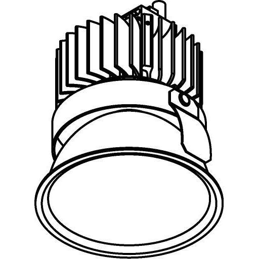 Drawing of 1501.ZXO.S2/.. - CAMELEON DIM LED, inbouwspot - rond - vast