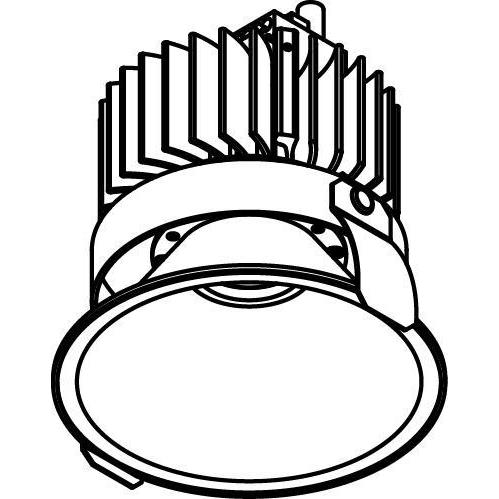 Drawing of 1502.ZXO.S2/.. - CAMELEON DIM LED, inbouwspot - rond - vast - conisch