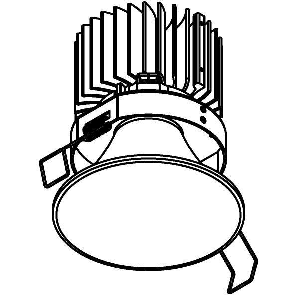 Drawing of 1503.ZXO.S1/.. - CAMELEON DIM LED, inbouwspot - rond - vast - conisch