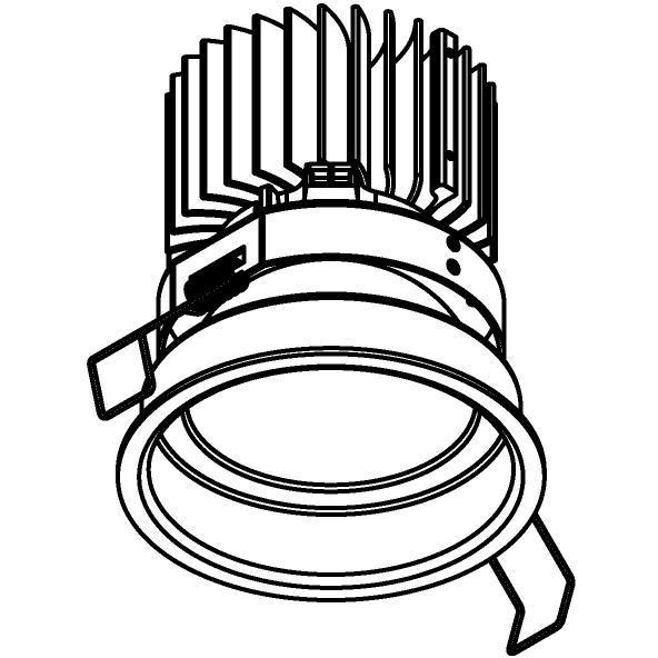 Drawing of 1506.ZXO.S1/.. - CAMELEON DIM LED, inbouwspot - rond - vast - conisch