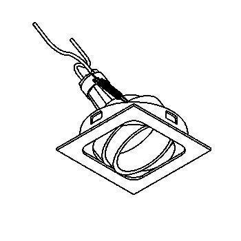 Drawing of BS.BETA/.. - BETA SYSTEM, inbouwcassette - vierkant - richtbaar