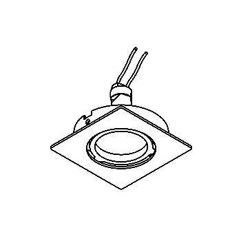 Drawing of 90.CZL.OUZO/.. - SCS SYSTEM, inbouwcassette - vierkant - vast