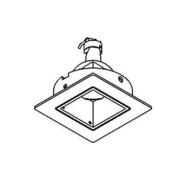 Drawing of 90.CZL.TOMBA/.. - SCS SYSTEM, inbouwcassette - vierkant - vast