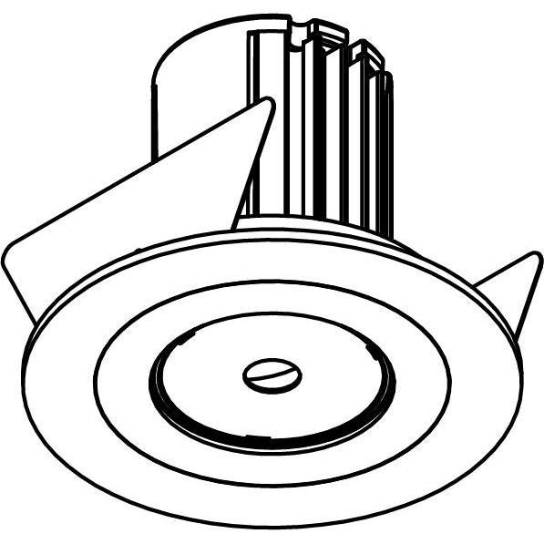 Drawing of AC.700.10010/.. - NORA AC, inbouwspot - rond - vast - dimbaar fase aan & afsnijding - led 230V + lens