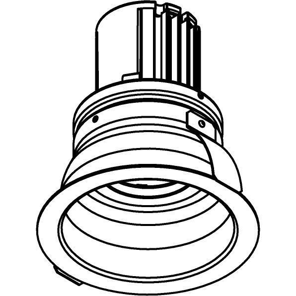 Drawing of AC.700.10016/.. - NORA AC, inbouwspot - rond - vast - dimbaar fase aan & afsnijding - led 230V + lens