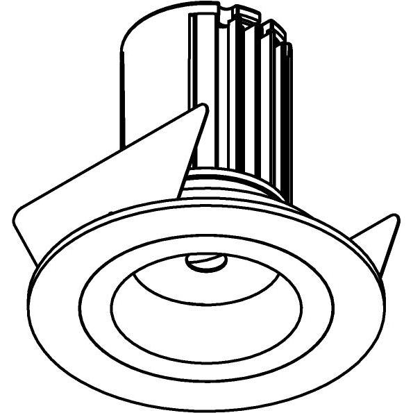 Drawing of AC.700.10017/.. - NORA AC, inbouwspot - rond - vast - dimbaar fase aan & afsnijding - led 230V + lens