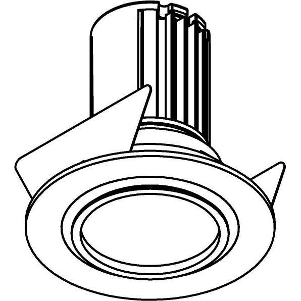 Drawing of AC.700.10023/.. - NORA AC, inbouwspot - rond - vast - dimbaar fase aan & afsnijding - led 230V + lens