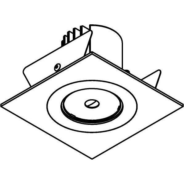 Drawing of DC.700.10012/.. - NORA DC, inbouwspot - vierkant - vast - ledmodule - lens - zonder LED driver