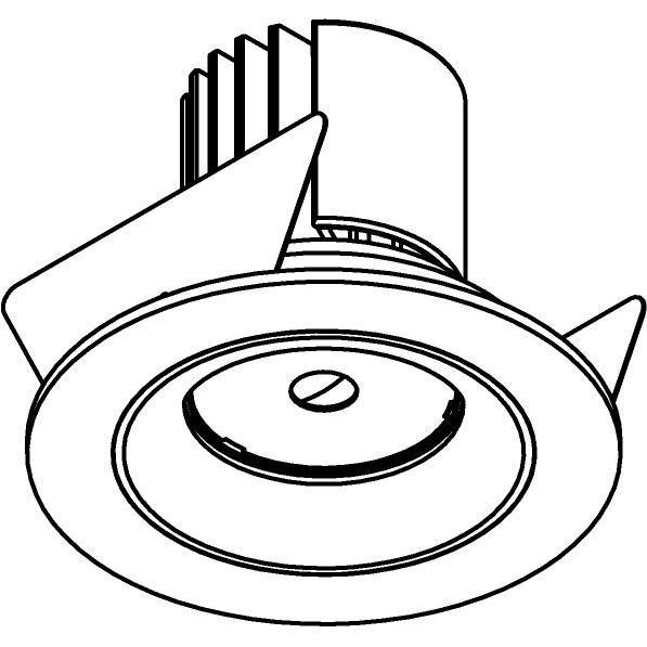 Drawing of DC.700.10014/.. - NORA DC, inbouwspot - rond - vast - ledmodule - lens - zonder LED driver