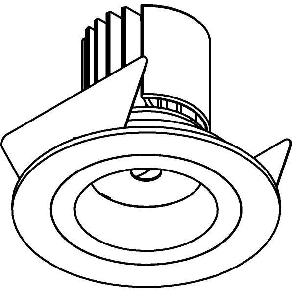 Drawing of DC.700.10017/.. - NORA DC, inbouwspot - rond - vast - ledmodule - lens - zonder LED driver