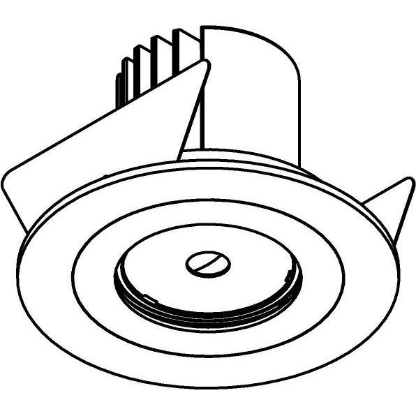 Drawing of DC.1200.10010/.. - NORA DC, inbouwspot - rond - vast - ledmodule - lens - zonder LED driver