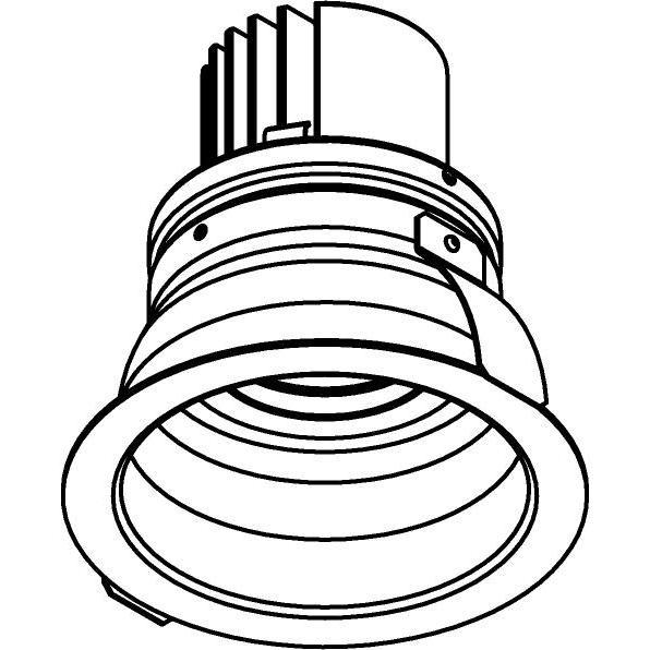 Drawing of DC.1200.10016/.. - NORA DC, inbouwspot - rond - vast - ledmodule - lens - zonder LED driver