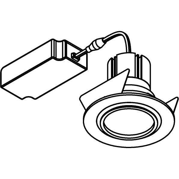 Drawing of 555.10023/.. - NOVA LED + DRIVER, inbouwspot - rond - vast - dimbaar - kit (driver + led + spot) - met LED driver