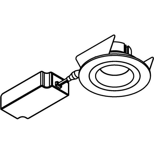 Drawing of 444.10017/.. - NOVA FLAT LED + DRIVER, inbouwspot - rond - vast - dimbaar - kit (driver + led + spot) - met LED driver