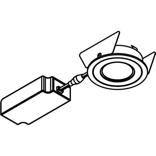 Drawing of 444.10024/.. - NOVA FLAT LED + DRIVER, inbouwspot - rond - vast - dimbaar - kit (driver + led + spot) - met LED driver
