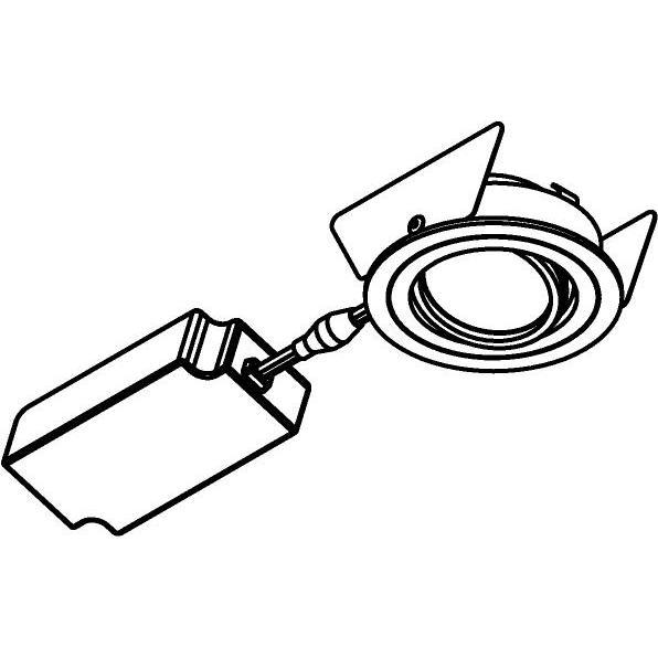 Drawing of 444.10026/.. - NOVA FLAT LED + DRIVER, inbouwspot - rond - richtbaar - dimbaar - kit (driver + led + spot) - met LED driver