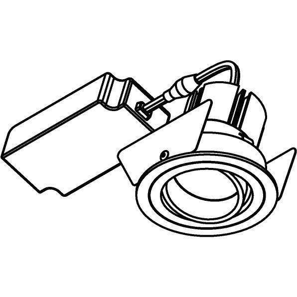 Drawing of 555.10026/.. - NOVA LED + DRIVER, inbouwspot - rond - richtbaar - dimbaar - kit (driver + led + spot) - met LED driver