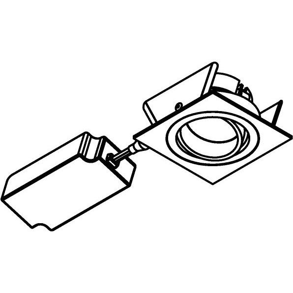 Drawing of 444.10027/.. - NOVA FLAT LED + DRIVER, inbouwspot - vierkant - richtbaar - dimbaar - kit (driver + led + spot) - met LED driver