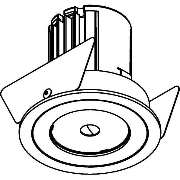 Drawing of AC.700.10024/.. - NORA AC, inbouwspot - rond - vast - dimbaar fase aan & afsnijding - led 230V + lens