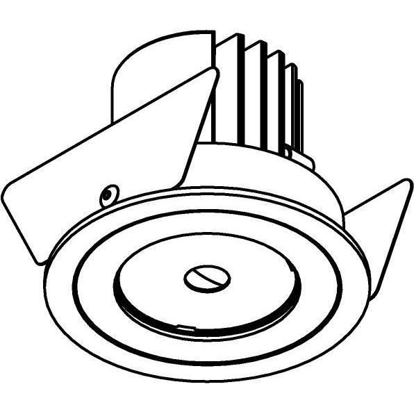 Drawing of DC.700.10024/.. - NORA DC, inbouwspot - rond - vast - ledmodule - lens - zonder LED driver