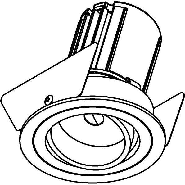 Drawing of AC.700.10026/.. - NORA AC, inbouwspot - rond - richtbaar - dimbaar fase aan & afsnijding - led 230V + lens