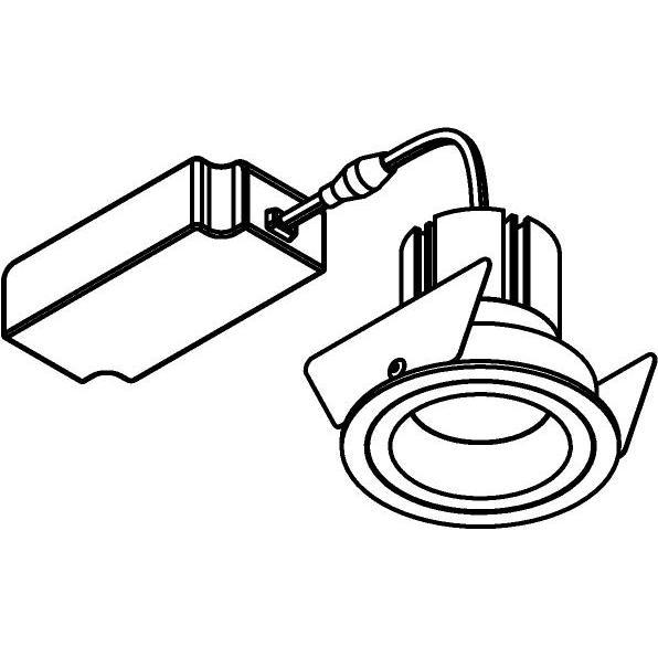 Drawing of 555.10028/.. - NOVA LED + DRIVER, inbouwspot - rond - vast - dimbaar - kit (driver + led + spot) - met LED driver