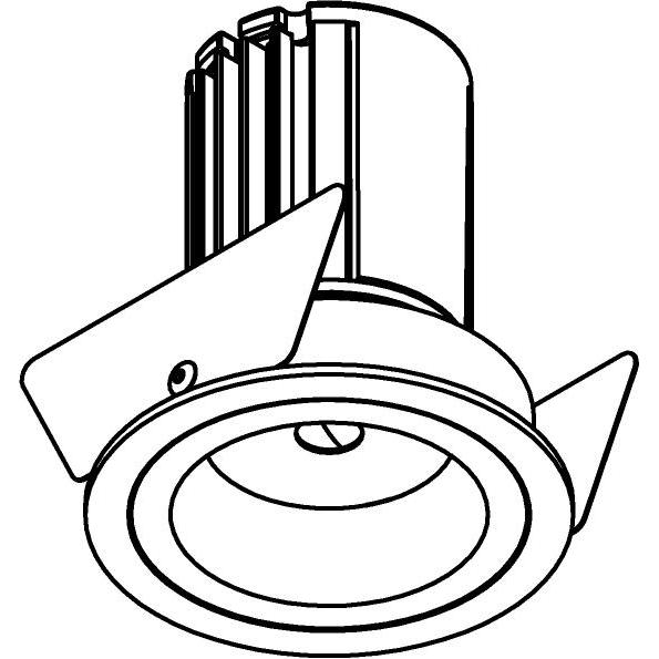 Drawing of AC.700.10028/.. - NORA AC, inbouwspot - rond - vast - dimbaar fase aan & afsnijding - led 230V + lens