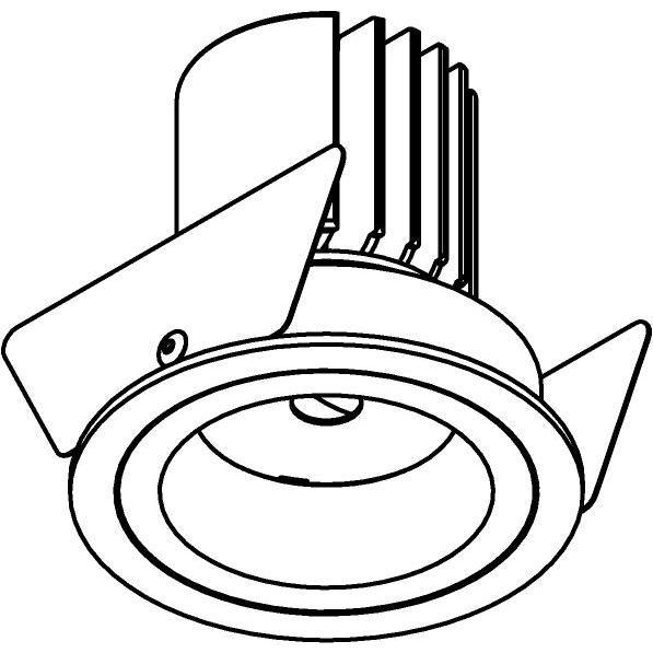 Drawing of DC.1200.10028/.. - NORA DC, inbouwspot - rond - vast - ledmodule - lens - zonder LED driver