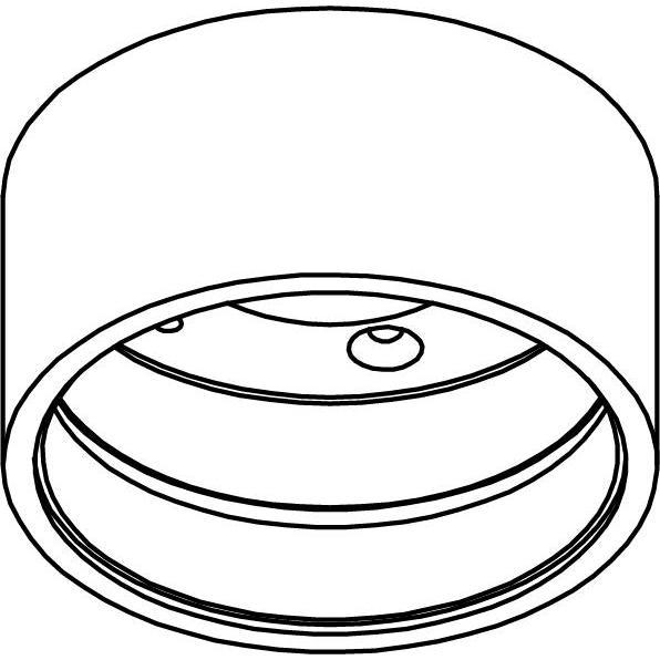 Drawing of E-TUBE.40/.. - Ø80-82 ECS - BUILT UP, plafondverlichting voor inbouwcassette ECS - rond - afzonderlijk te bestellen