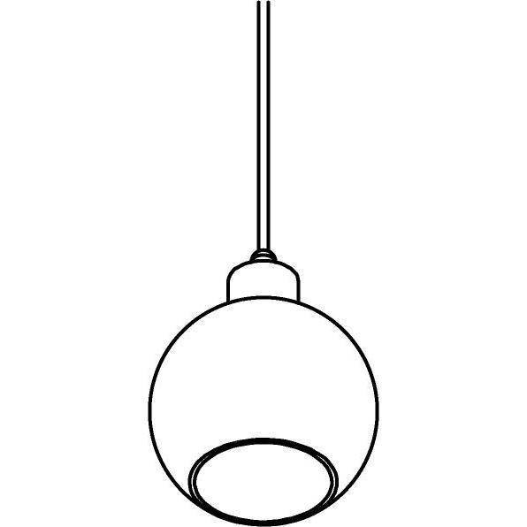 Drawing of 4997.A.E27.SH/.. - MOBY SH PINKY, hanglamp - met 2m textielkabel en trekontlasting aan fitting