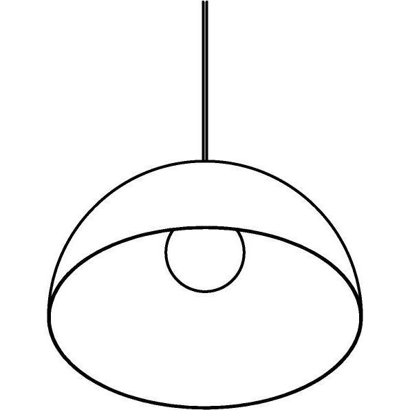 Drawing of 1519/.. - HANGOVER, hanglamp - met 1,5m textielkabel en trekontlasting aan fitting