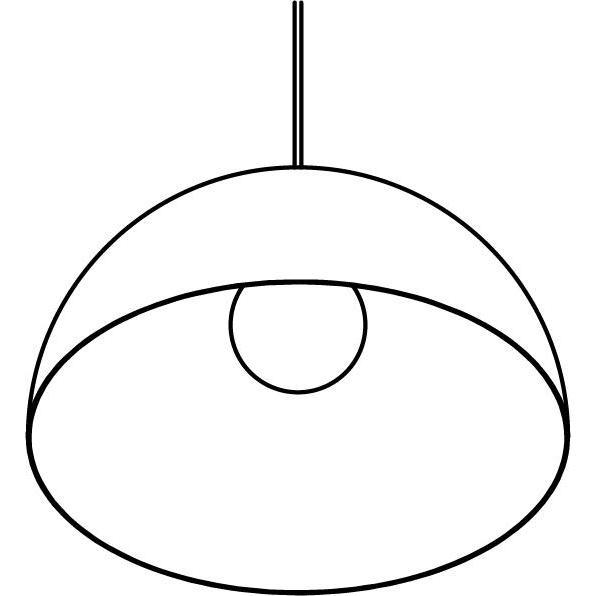 Drawing of 1523/.. - HANGOVER, hanglamp - met 1,5m textielkabel en trekontlasting aan fitting