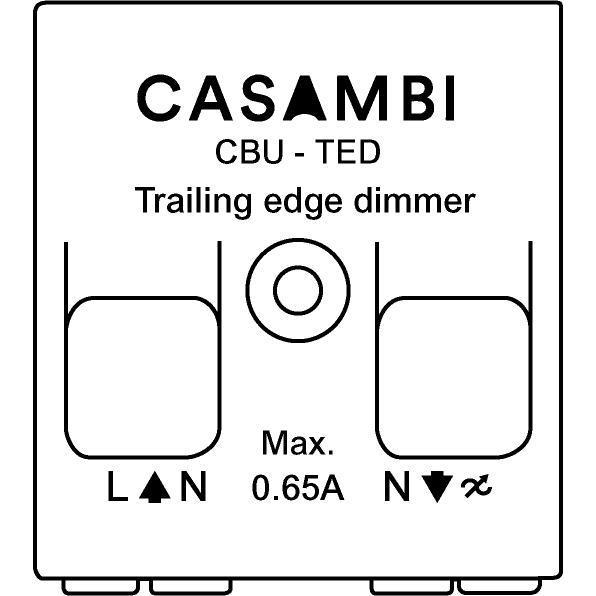 Drawing of CBU-TED/.. - CASAMBI, Dimmer fase afsnijding geschikt voor gloeilampen en dimbare LED lampen