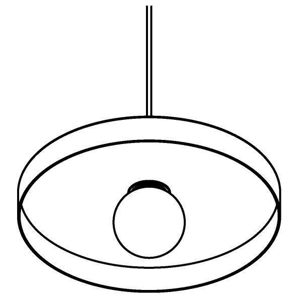 Drawing of 4992.E27/.. - SKIVVE, met 1,5m textielkabel en trekontlasting aan fitting
