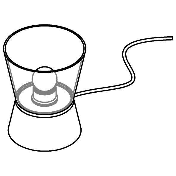 Drawing of 5560.E27/.. - SHAKE GLASS, tafellamp - vast - met snoer en stekker