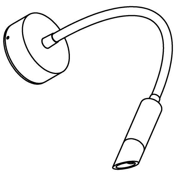 Drawing of 1849/.. - LIPSTICK by SUMUM, opbouwspot met flexibele arm - richtbaar - zonder schakelaar - zonder LED driver
