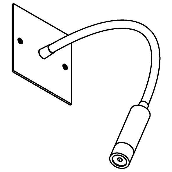 Drawing of 1899/.. - LIPSTICK, opbouwspot met flexibele arm - richtbaar - zonder schakelaar - zonder LED driver